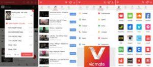 vidmate apk- view inside how the app looks.