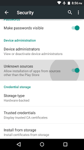 Facebook Apk - unknown sources toggle