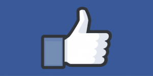Facebook Apk - like icon on blue banner