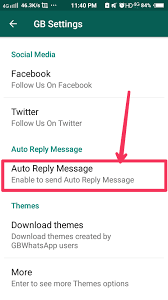 auto reply message in gbwhatsapp apk
