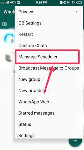 message scheduler in gbwhatsapp apk.