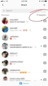 request of message from unkown persons in instagram