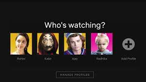 who is watching screen with user profiles.