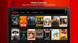 Netflix mod apk - exclusives screen
