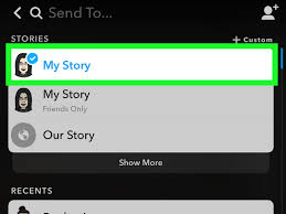 add to my story option in snapchat