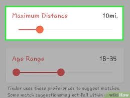 distance setting for finding matches.