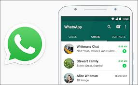 Whatsapp Apk chat screen with logo in left.