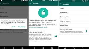 Whatsapp Apk setting options shown.