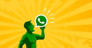 Whatsapp Apk - Male guy in green talkin through icon yellow background.