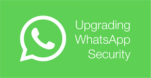 upgrading whatsapp security green banner