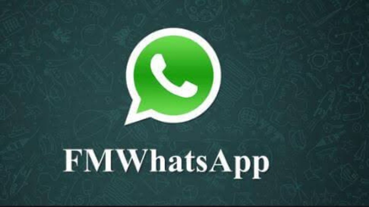 FMWhatsapp logo cover with blue background