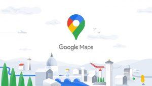 Google Maps apk logo inside cover photo.
