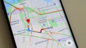 location distance in Google Maps apk