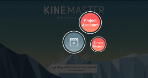 project assistant and empty project in kinemaster mod apk.