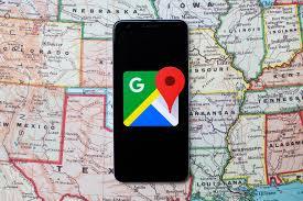 Google Maps apk logo inside phone.