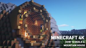 how to build a mountain house in minecraft.