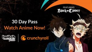 get a 30 day pass to watch anime and get twitch prime.