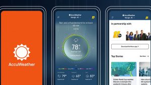 Accuweather mod apk - how it looks inside phone installed.