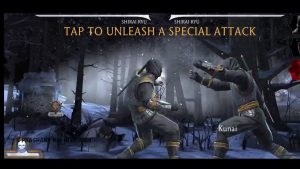tap to unleash a special attack.