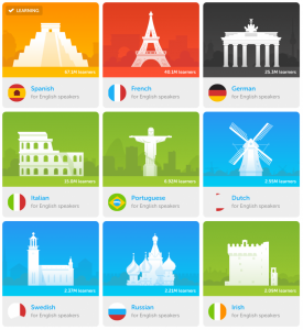 may options of languages - Spanish, french, german, italian, dutch, russian and more.