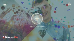 create new video icon in Filmora Go