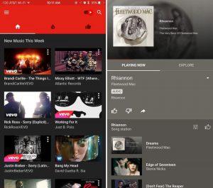 see new music inside youtube music mod apk