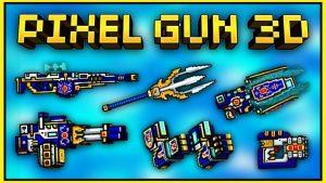 pixel gun 3D guns.