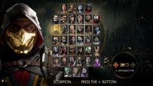 Mortal kombat mod apk - select your character for fighting.
