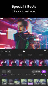 motion ninja mod apk- special effects with glitch, vhs and more