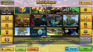 choose from a variety of maps in pixel gun game.