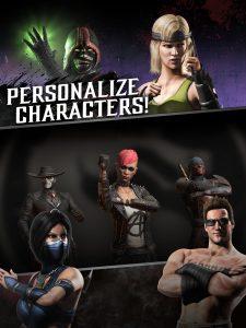 Mortal kombat mod apk- personalize characters