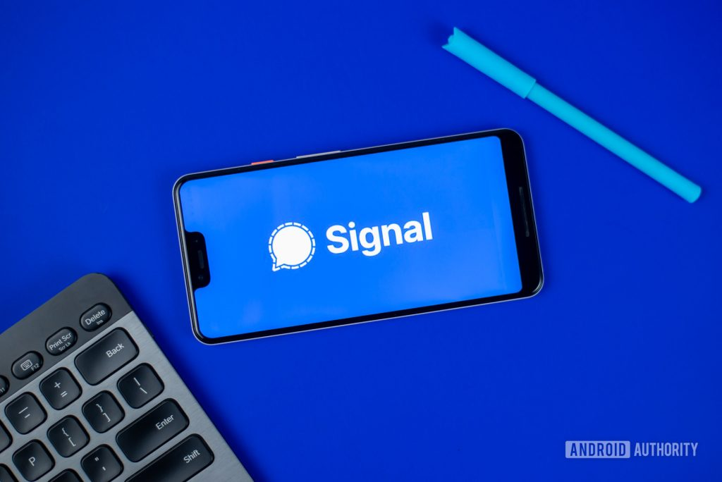 signal installed in phone along with pen and keyboard.