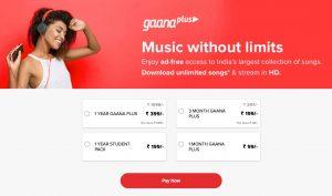 music without limits - gaana mod apk