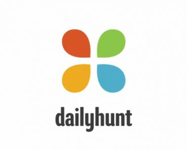 dailyhunt cover photo with logo.