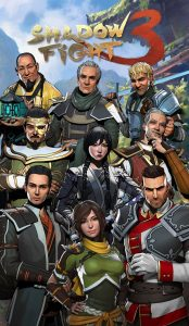 Shadow Fight 3 mod apk all characters - collage.
