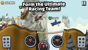 form the ultimate racing team in Hill climb racing 2