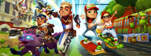 subway surfers android game characters.