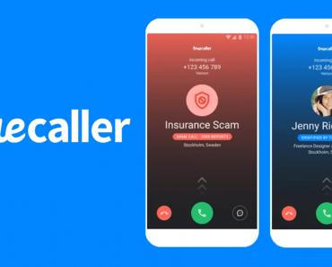 Truecaller mod apk - logo with spam identification screen,