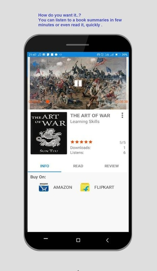 listen to book summaries easily with Gigl mod apk.