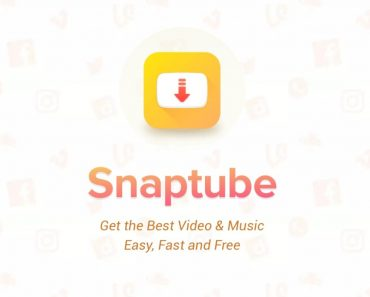 Snaptube mod apk cover image with logo.