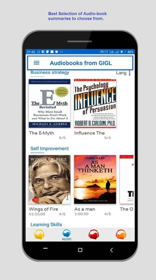 there are several audiobooks from gigl premium which you can listen to.