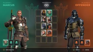 Shadow Fight 3 mod apk - player 1 vs player 2 characters