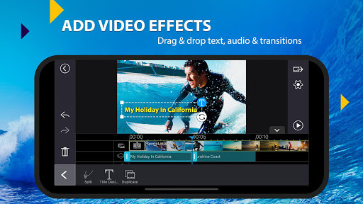 Drag and drop text, audio and transitions - Add video effects
