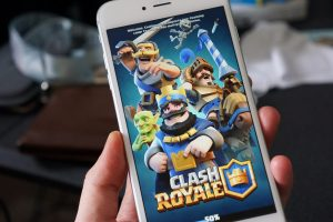 clash royale as seen on phone screen.