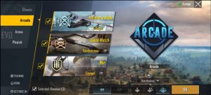 play modes like classic, arcade, Arena, playlab and more in pubg mod