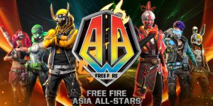 free fire asia all stars in AA.
