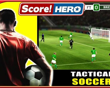 play tactical soccor by red tshirt wearing man and green and black team members. 49, 15 numbers on jerseys.