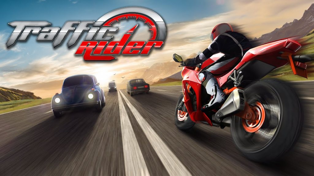 red bike and blue cars, this game is so fun to play