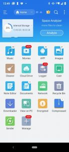 ES file explorer mod has space analyzer for music, movies, app, images, network, note editor and more