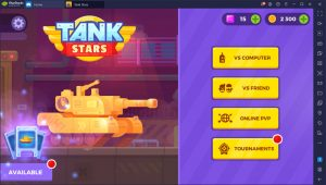4 modes in tank stars. Vs computer, vs friend, online PvP, Tounrament.